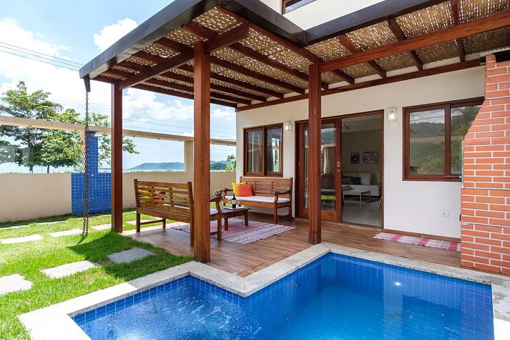 Safira - Linda c/3 suites, frente mar, piscina, churr, garag